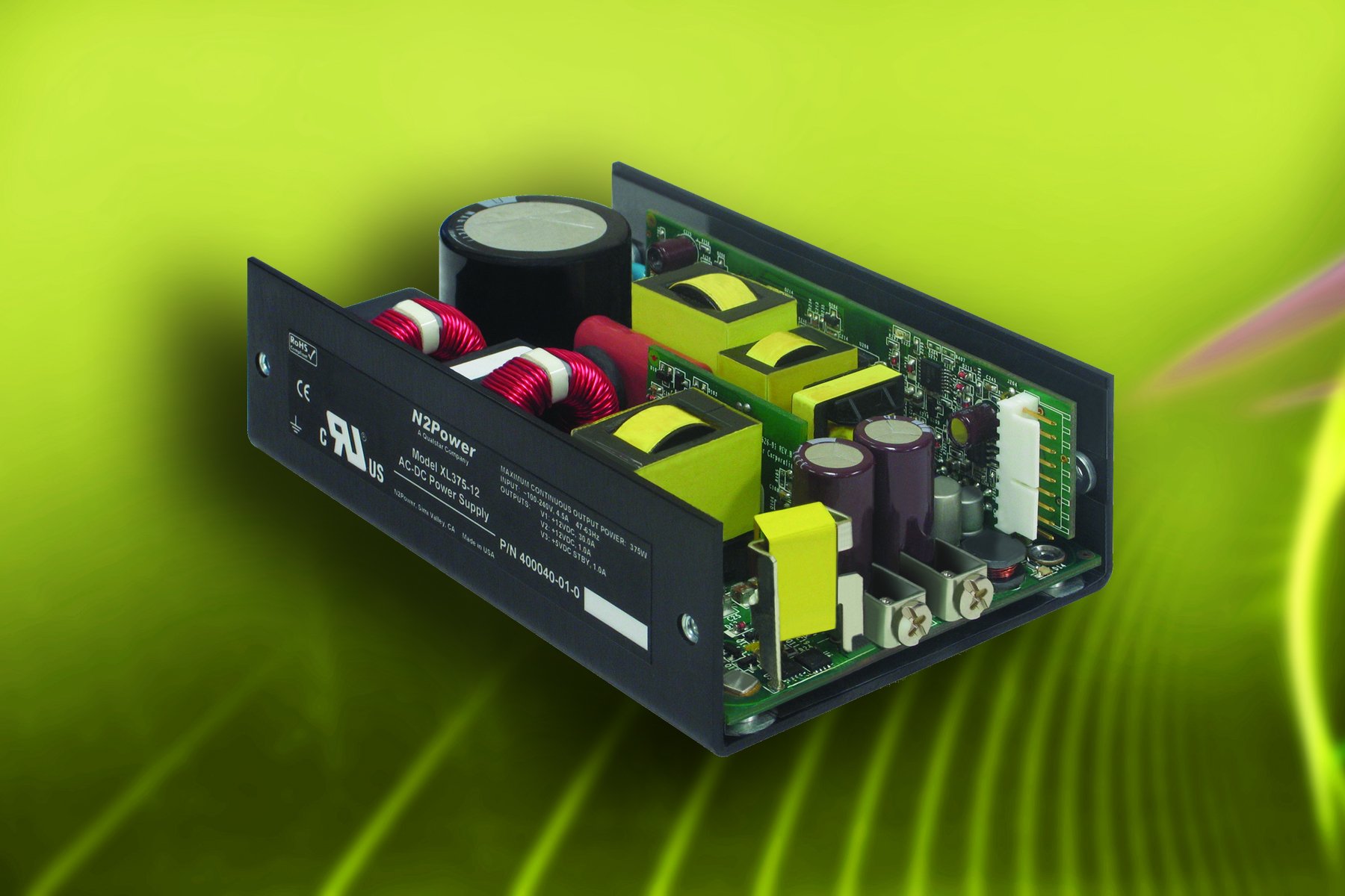 Luso Announces Availability Of 260w High Efficiency Open Frame Ac Dc To Power Supply Circuit Supplies From N2power
