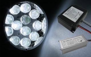 Sinelight LED power-driver module