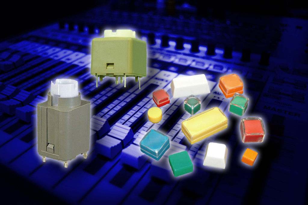 Veetronix switches and keycaps for broadcast applications